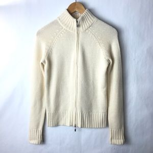 Lord & Taylor cashmere cardigan sweater zip up xs